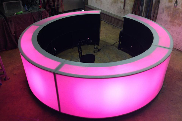 Circular LED Mobile Bars for Weddings